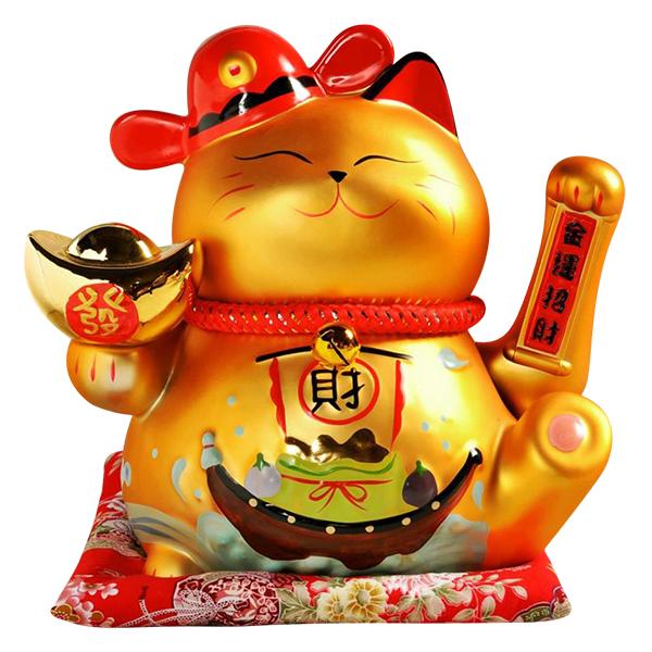 Mèo Thần Tài Vàng Lộc Tiến Vinh Hoa