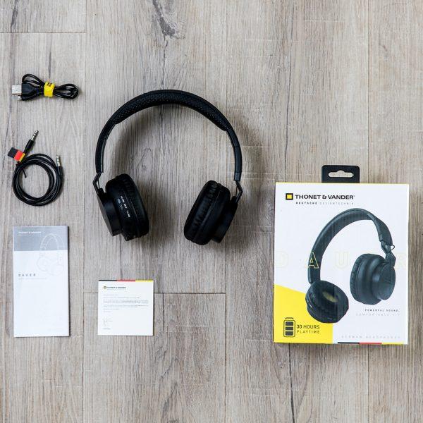 Tai nghe Thonet & Vander Dauer HK096-03615, có bluetooth, tích hợp micro, gấp gọn tiện dụng, hàng chính hãng