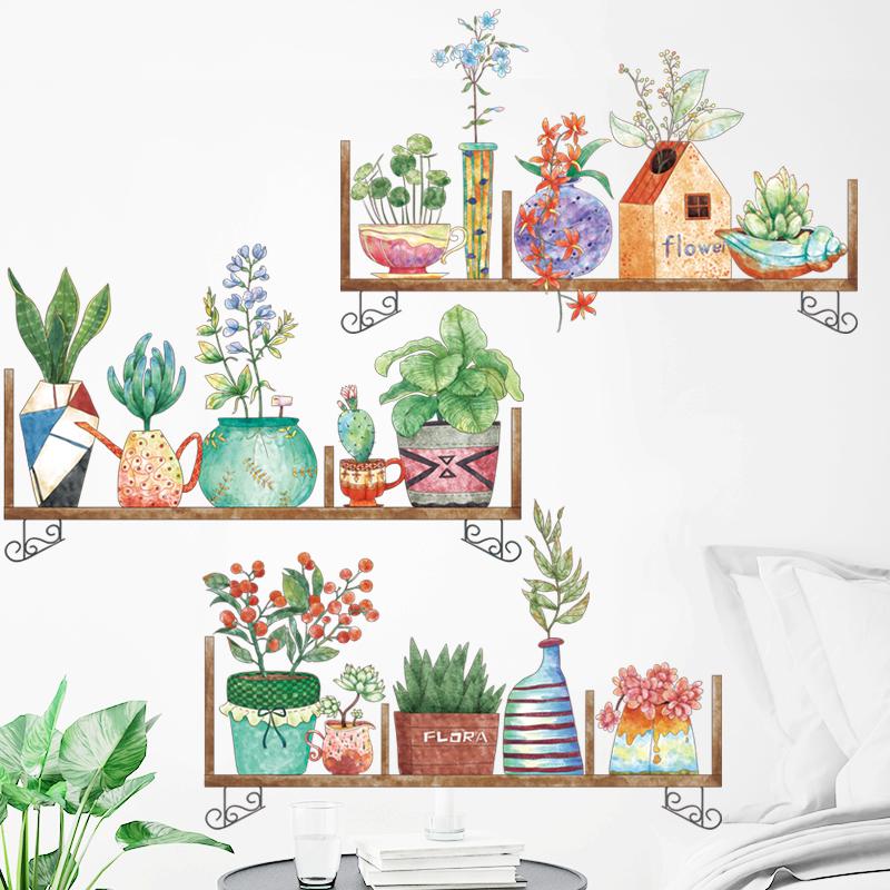 Sticker Giấy Dán Tường Decal Dán tường Mẫu Hoa Lá Cực Xinh ZH004