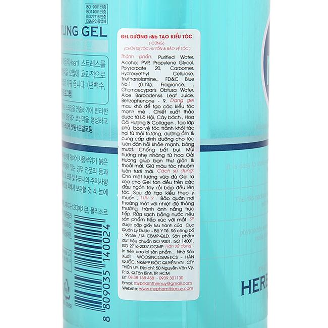 Nước dưỡng tóc bóng mềm giữ ẩm giữ nếp dùng cho tóc cứng dạng Gel R&B Herb Styling Gel, Hàn Quốc 450 ml