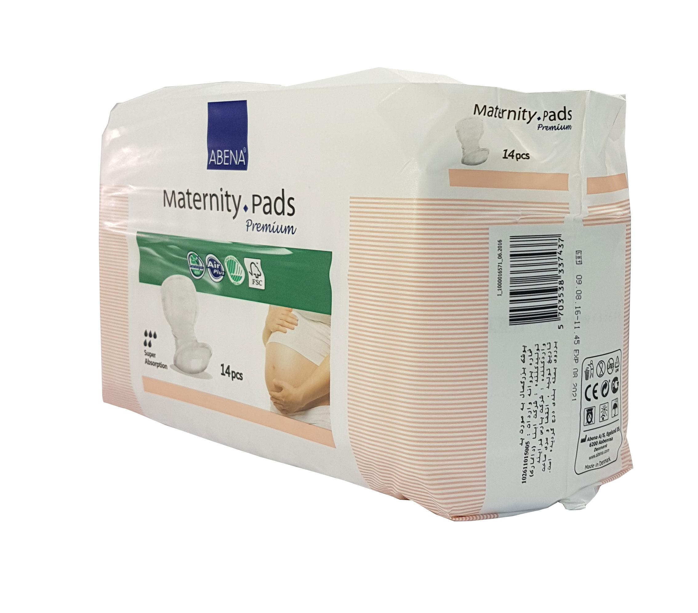 Băng lót sản phụ diệt khuẩn Abena Maternity Pad (gói 14 miếng)