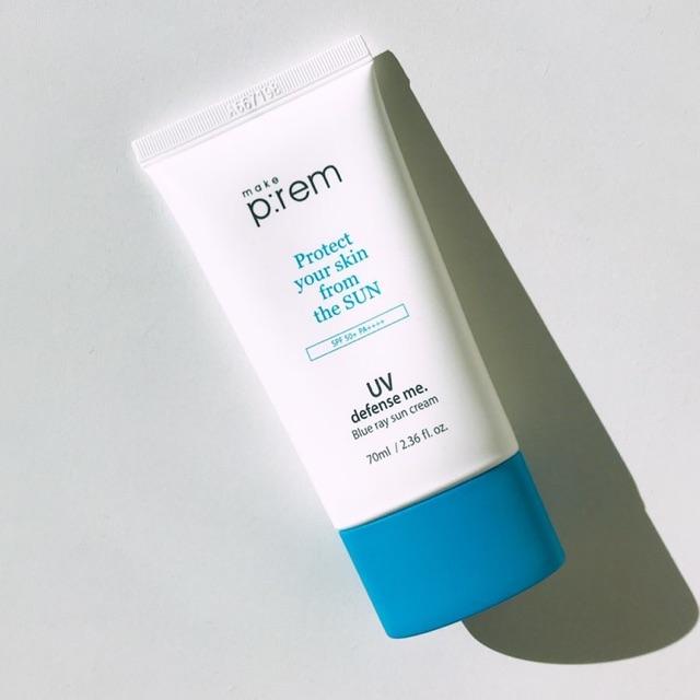 Kem Chống Nắng Make P:rem Protect UV Defense Me Blue Ray Sun Cream 70ml