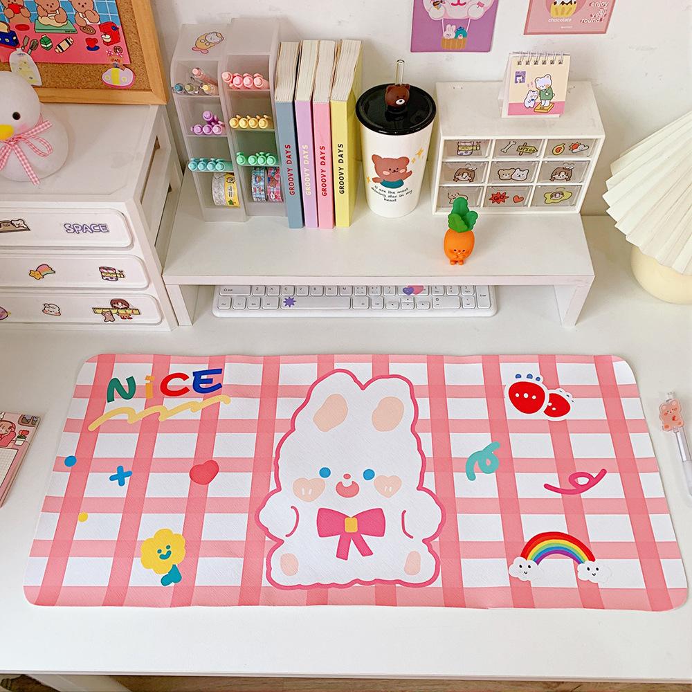 Tấm lót chuột PVC hoạt hình dễ thương - Tấm lót bàn phím 66,2 cm x 29,8 cm