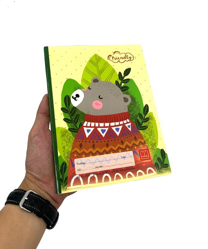 Vở Class Friendly Animal 5 Ôly Vuông (96 Trang) - 0420 - Hình Gấu