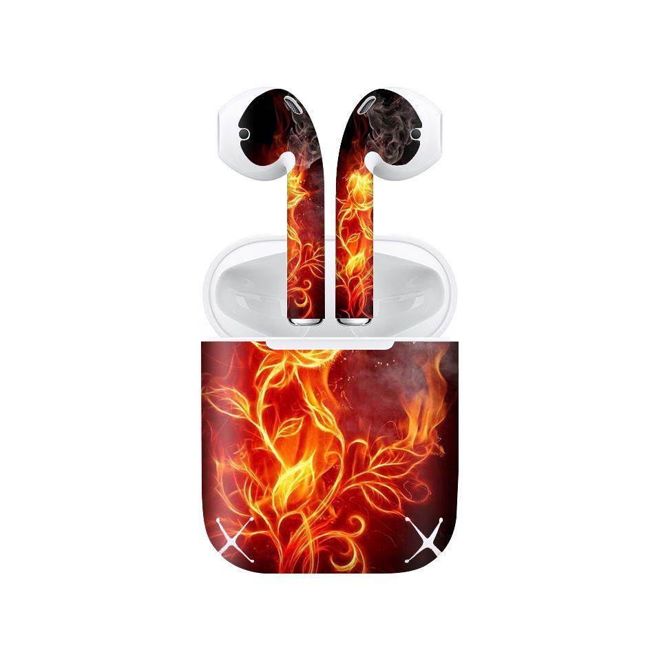 Miếng dán skin chống bẩn cho tai nghe AirPods in hình Họa tiết - HTx155 (bản không dây 1 và 2)