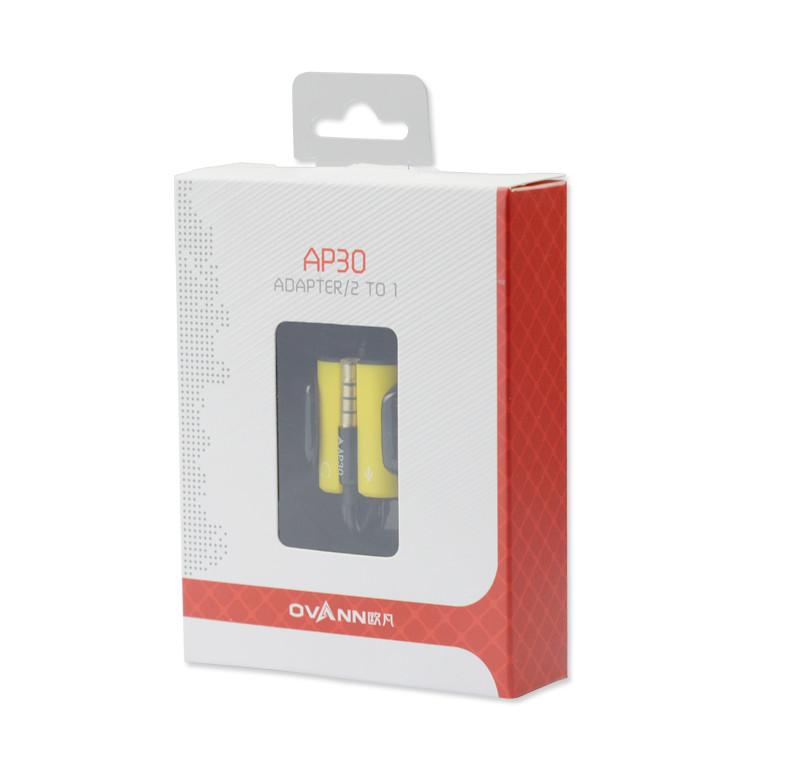 Cáp chia tai nghe 1 ra 2 (Mic+Tai nghe) Ovann AP30 - Hàng chính hãng