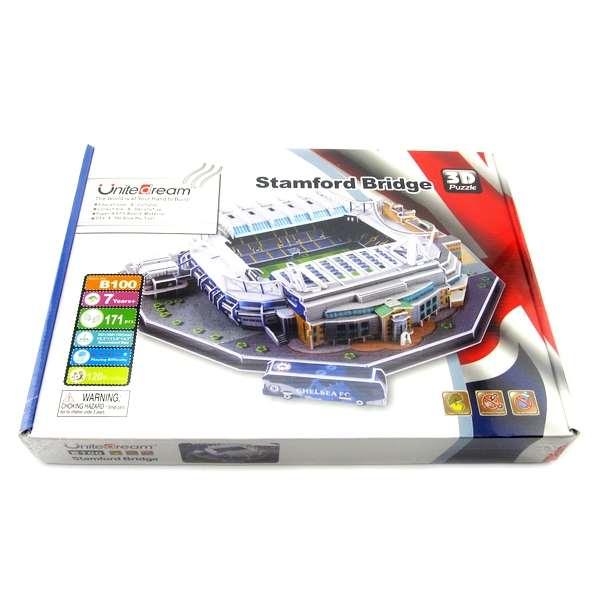 Đồ chơi lắp ráp Giấy 3D Mô hình Sân Vận Động Stamford Bridge Chelsea - Tặn kèm đèn LED