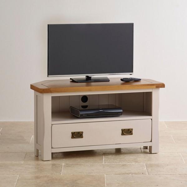 Tủ TV Góc Kemble Gỗ Sồi Ibie LVCKEMO - Trắng (100 x 50 cm)