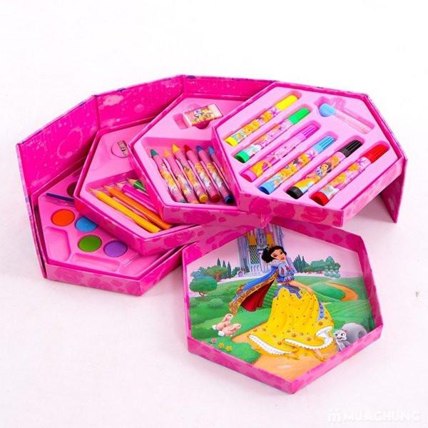 Bộ bút chì màu xoay 4 tầng 46 món ngộ nghĩnh cho bé