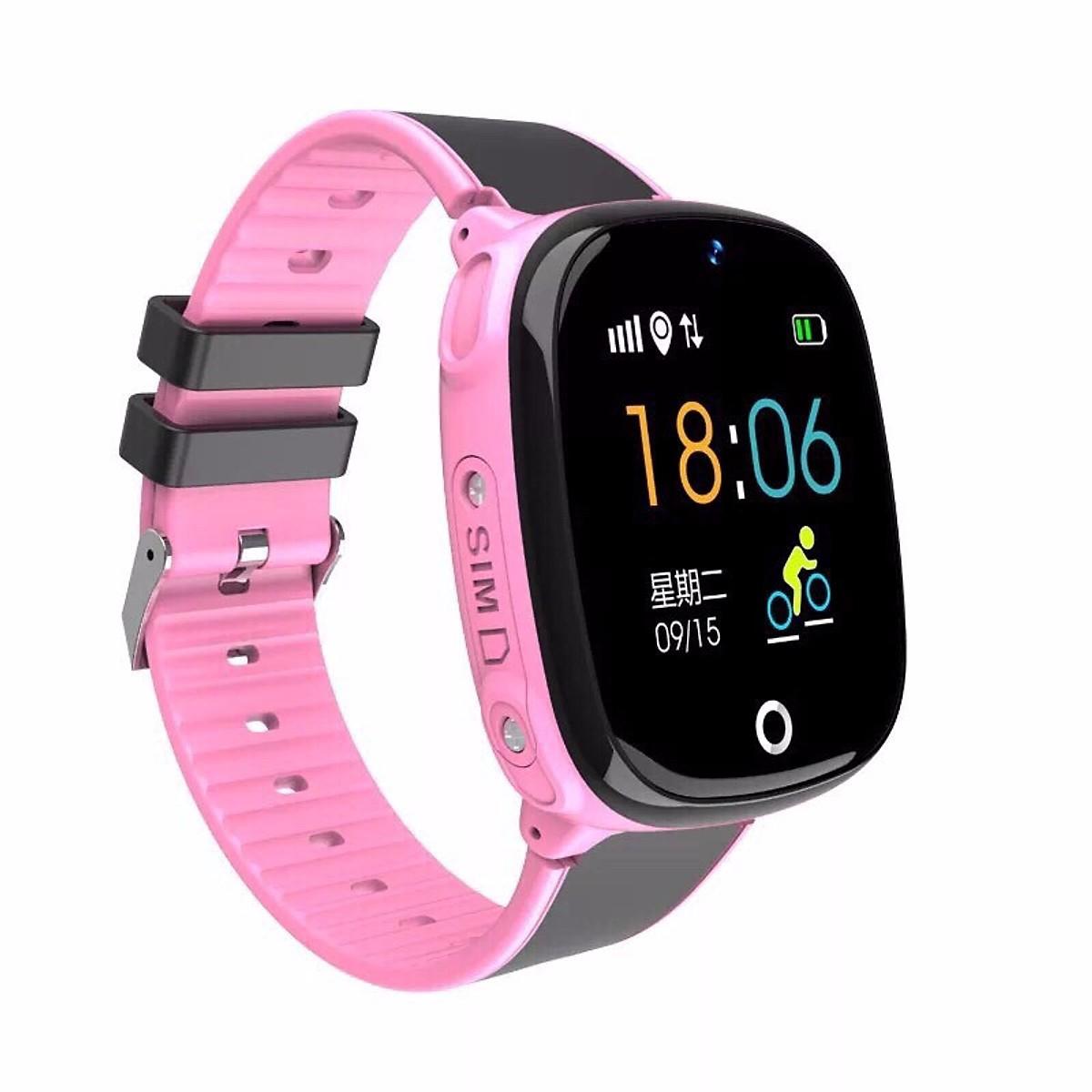 Đồng hồ định vị GPS chống nước HW11 Có camera (hồng)