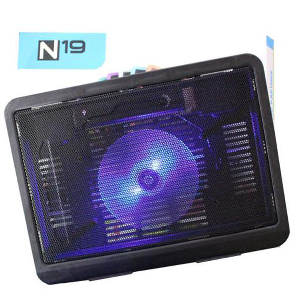 Đế  tản nhiệt có quạt 12 inch cho laptop, đèn LED N19 - de tan nhiet N19