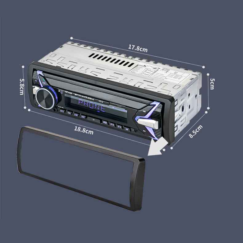 Máy Nghe Nhạc MP3 Bluetooth Kèm Radio Cho Ô Tô 1012 Điện Áp 12VDC