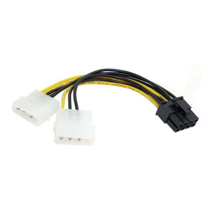 Cáp chuyển 2 nguồn phụ 4 pin ra nguồn phụ 8 pin cho VGA