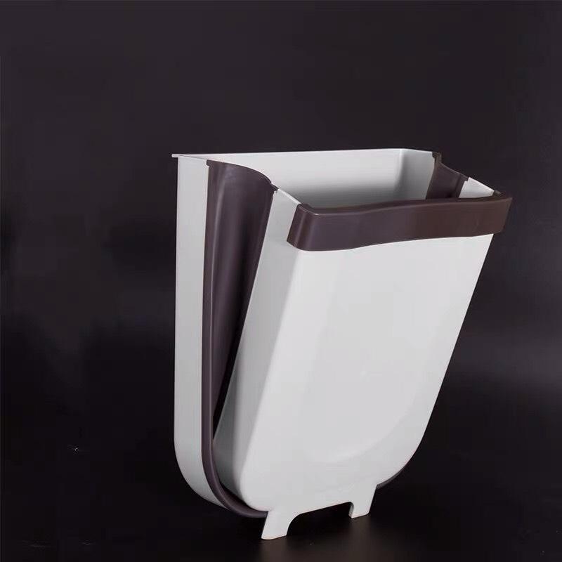 Thùng rác kẹp tủ treo gấp gọn cho nhà bếp