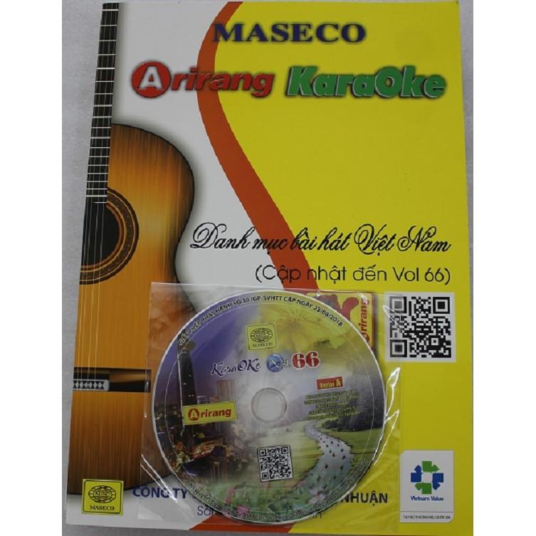 Đĩa Karaoke Arirang mới nhất Vol 66 (SERIAL A) + Sách list nhạc-Hàng chính hãng