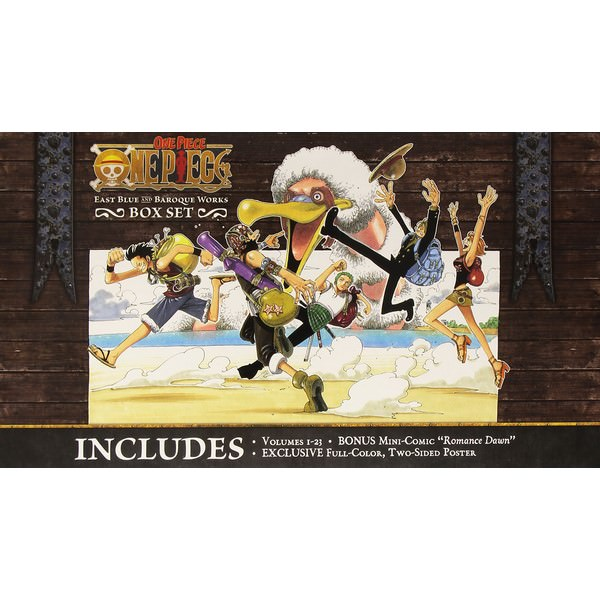 One Piece Box Set 1: East Blue And Baroque Works, Volumes 1-23 With Premium - Tiếng Anh