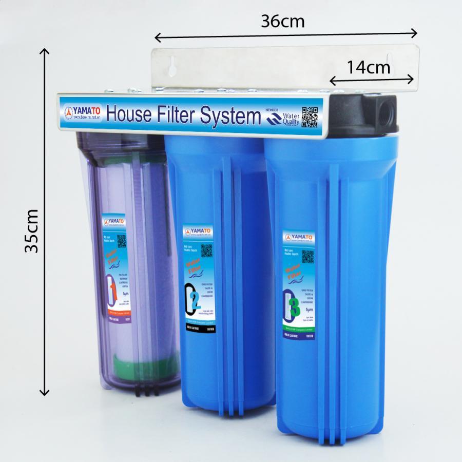 Bộ lọc nước thô đầu nguồn 3 cấp lọc 10inch Yamato YMTH10-3TX