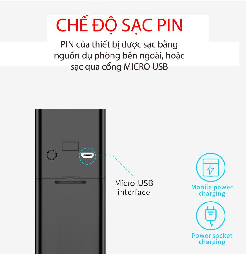 Chuông cửa Camera Smart Homesheel Doorbell 007C - Màu đen - Hàng chính hãng