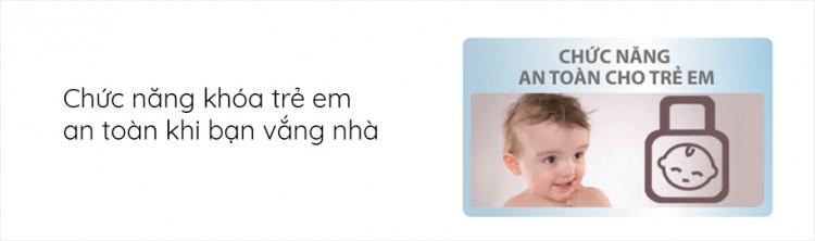 Máy giặt AQUA AQD-D1000C W, 10.0kg, Inverter có Chức năng khóa an toàn trẻ em