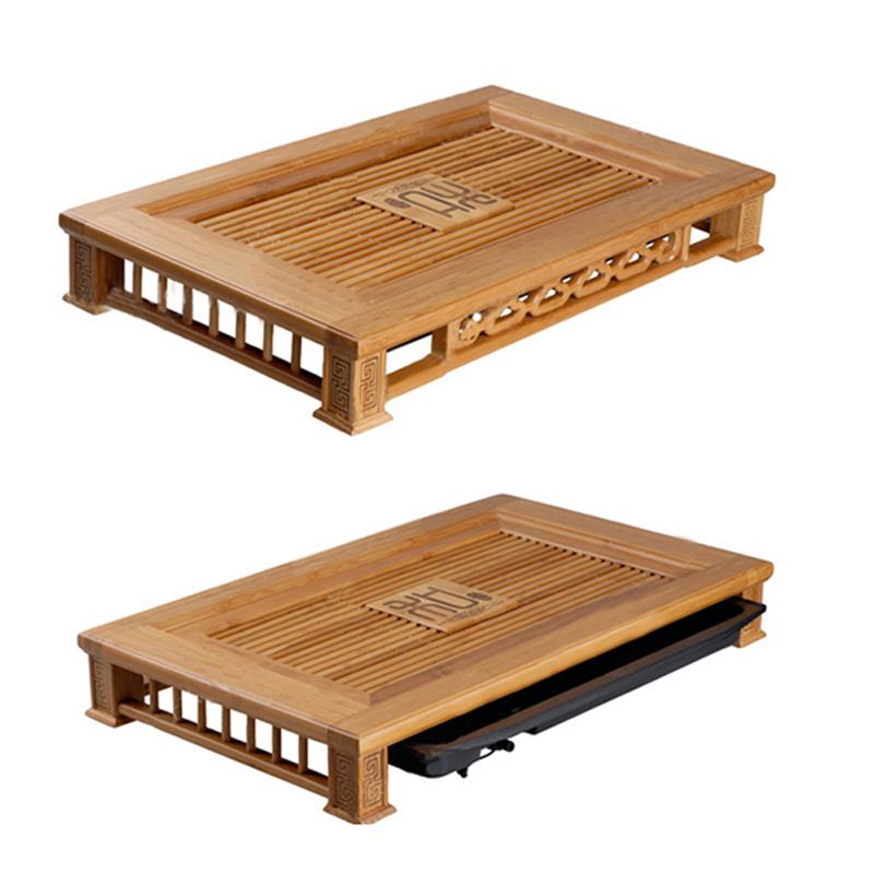 Khay trà gỗ tre tự nhiên
