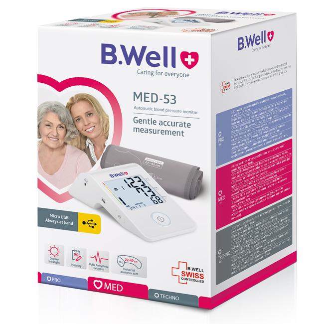 Máy đo huyết áp bắp tay B.Well Swiss MED-53
