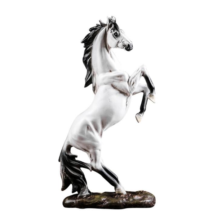 Tượng ngựa hí phong thủy - Decor đẹp trang trí để bàn