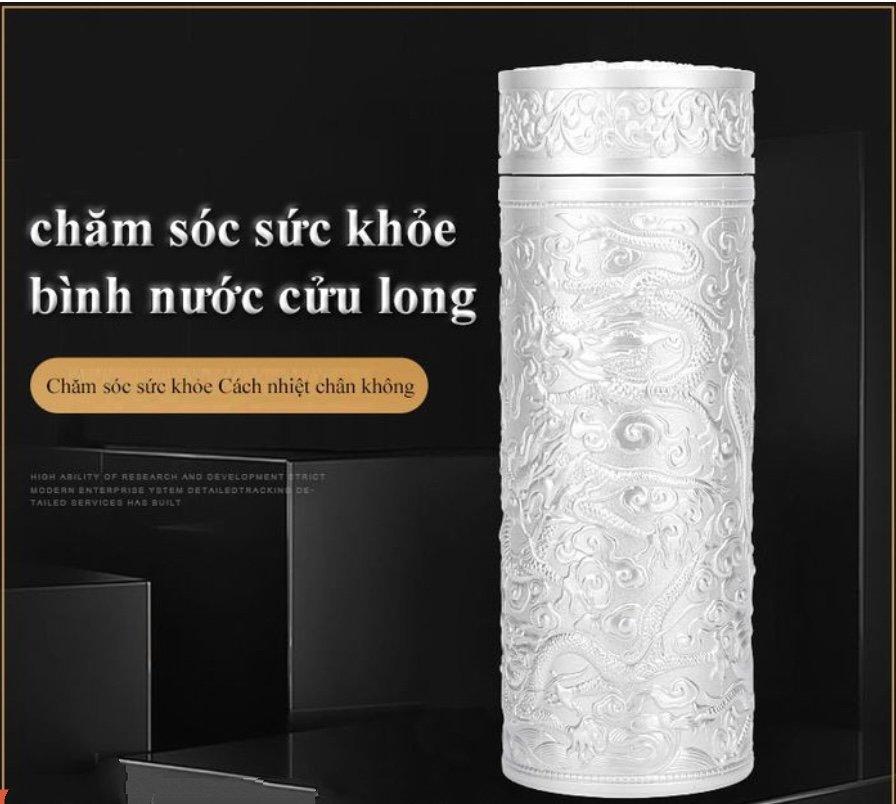 BÌNH TRÀ CỬU LONG ĐÀI BẮC GIỮ NHIỆT - Tặng hộp đựng bằng da 2-C9-L1-611-2021