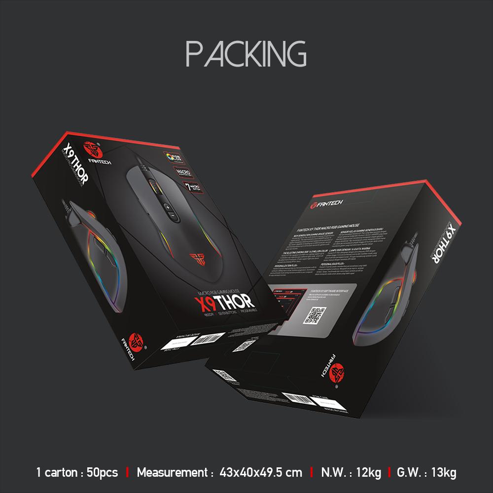 Chuột gaming Macro RGB 4800dpi với 7 chế độ tùy chình Fantech X9 - Hàng Chính Hãng