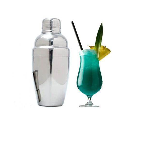 Bình Lắc Cocktail Shaker 550ml Inox Dày Pha Chế Trà Sữa, Cocktail, Cafe