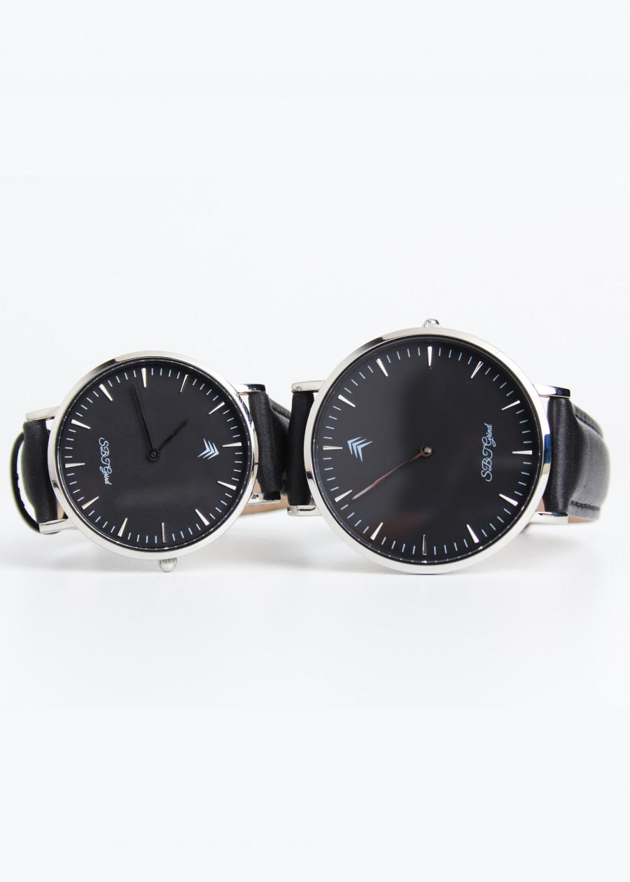 Đồng hồ cặp chính hãng SBT Watches -  classic black couple box
