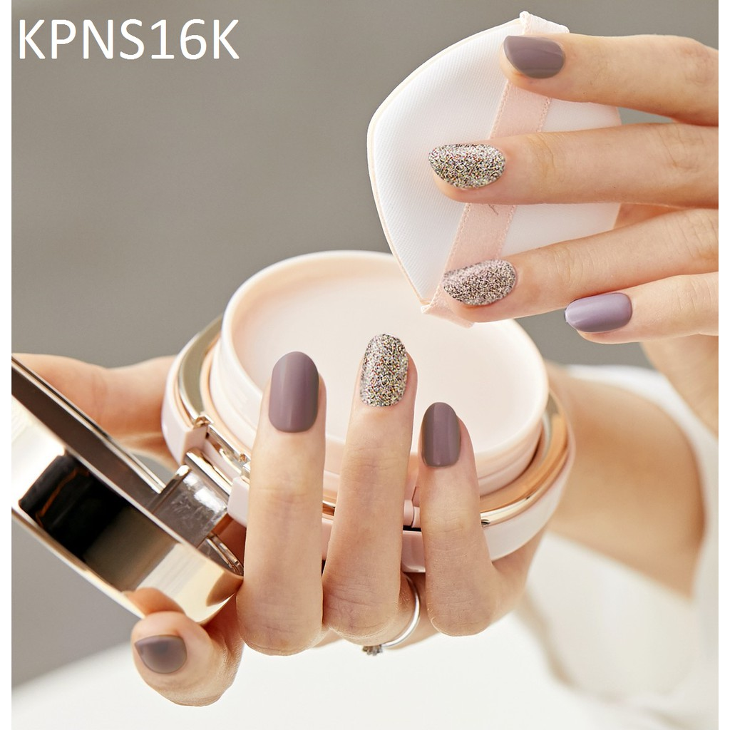 Bộ 30 Móng Tay Gel Dán Press & Go Kiss New York Nail Box - Shiny Pebble (KPNS16K)