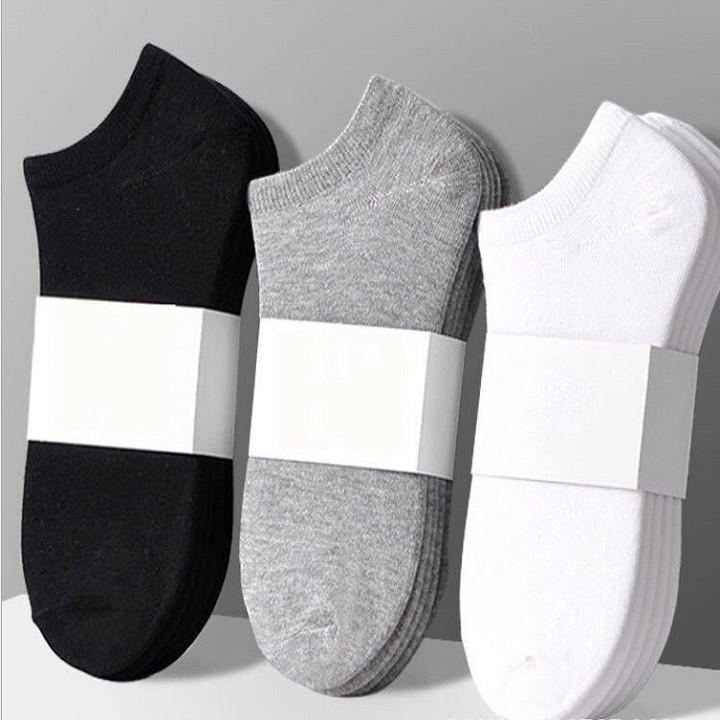 Vớ Nam Cổ Ngắn Cotton Co Giãn Hút Mồ Hôi, Khử Mùi Nano Seal Combo 5 đôi