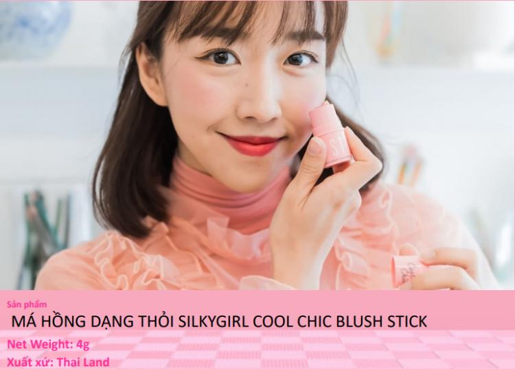 Má Hồng Dạng Thỏi Silkygirl Cool Chic Blush Stick 3