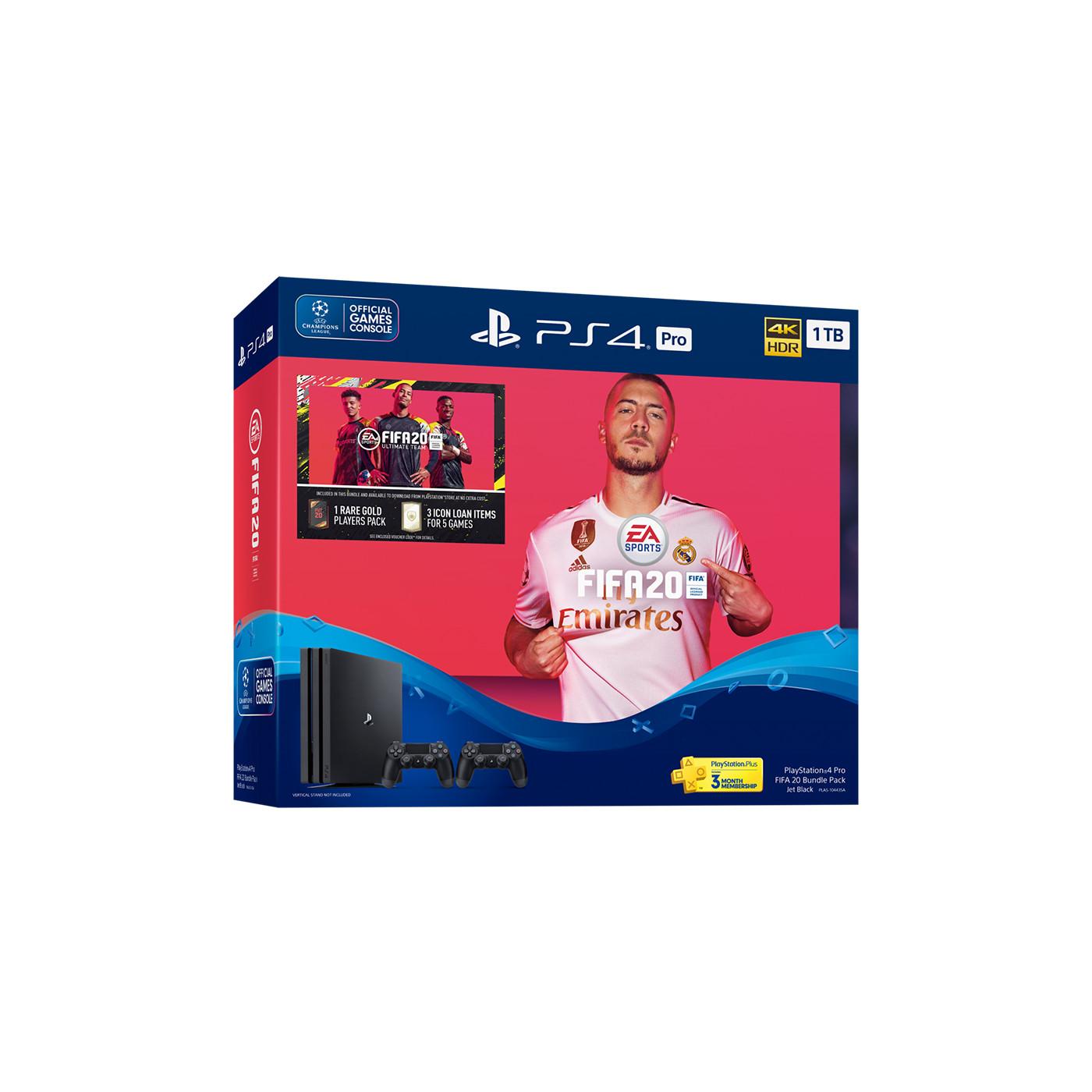 Máy PS4 Pro FIFA 20 Bundle 2 Tay cầm dualshock 4 -Hàng chính hãng