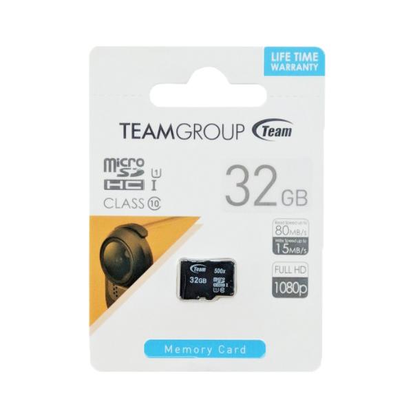 Thẻ Nhớ Micro SDHC Team 32GB 500x Class 10 U1-80MB/s (Đen) - Hàng Chính Hãng
