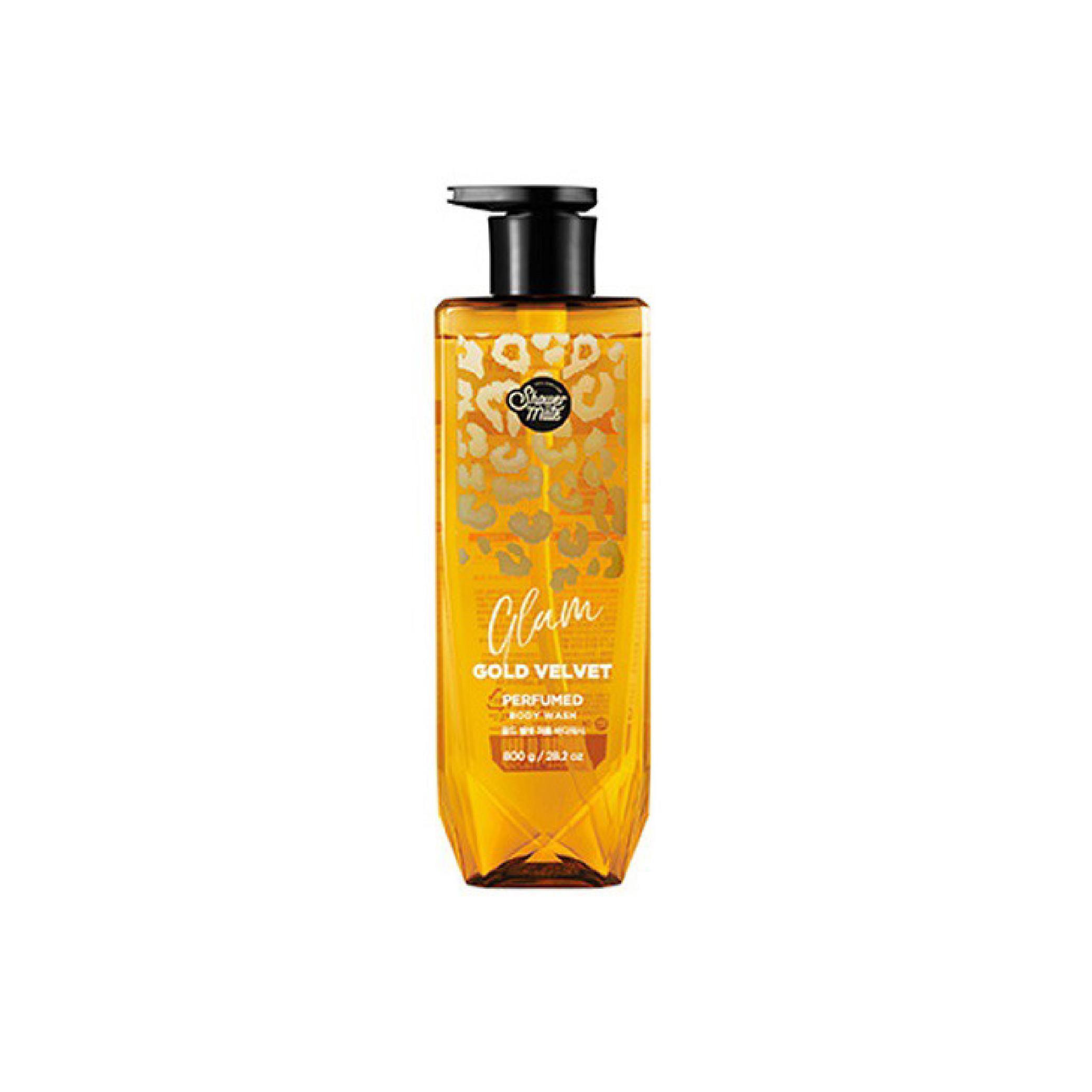 Sữa tắm nước hoa cao cấp dưỡng ẩm, giúp da trắng mịn, mềm mại, ngăn ngừa lão hóa và mụn cám SHOWERMATE GLAM GOLD VELVET 800g - Hàn Quốc Chính Hãng