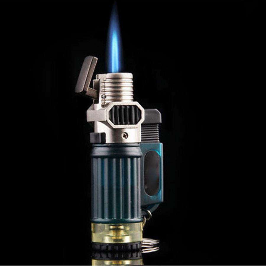Combo Móc Khóa Kiêm Bật Lửa Khò 1 Tia Mạnh Mẽ CF01 + Tặng Bình Gas Chuyên Dụng Cho Bật Lửa (Màu Ngẫu Nhiên)