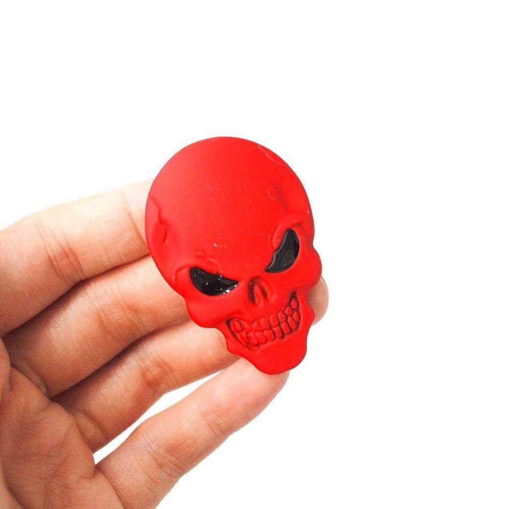 Skull Đỏ - Sticker hình dán metal kim loại 3D