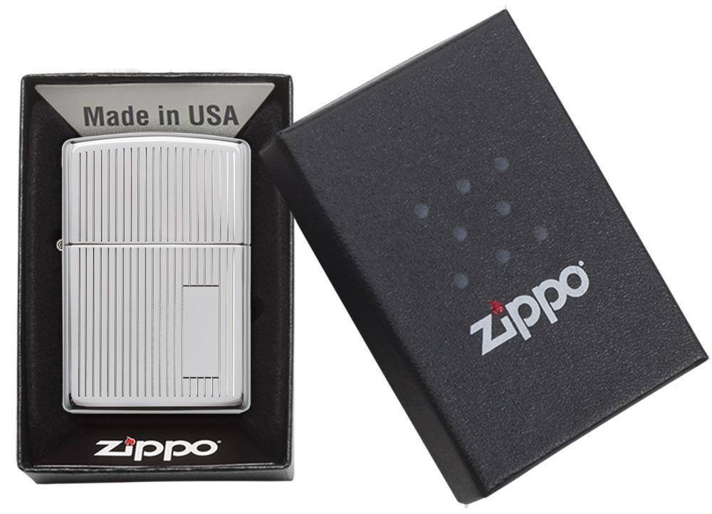 Bật Lửa Zippo Engine Turned Polished Chrome 350