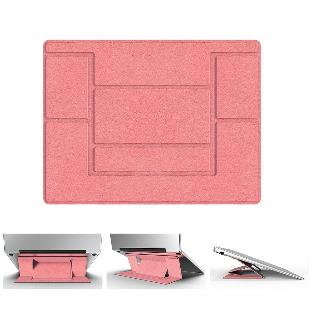 """Đế nâng, giá đỡ máy tính, laptop, macbook """"vô hình"""" siêu mỏng gọn - MÀU HỒNG"""