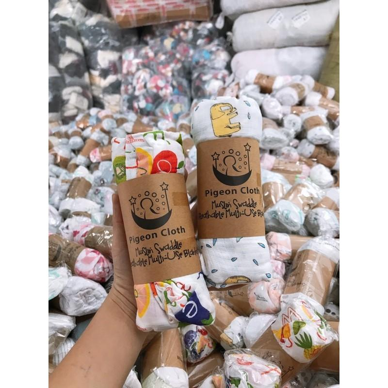 Khăn tắm hai lớp mềm thấm hút tốt cho bé ️ Khăn cotton xuất dư ️ 115x115