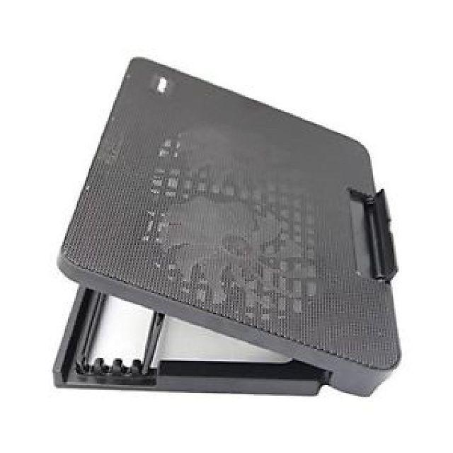 Đế Tản Nhiệt Laptop 2 Fan Có Led - Quạt Tản Nhiệt Laptop Thay Đổi Độ Dốc (Màu Đen)