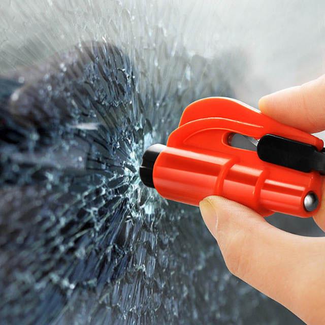 Búa đập kính thoát hiểm kèm dao cắt dây bảo hiểm mini