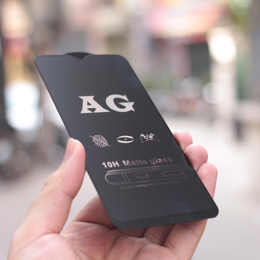 Kính Cường Lực Nhám Full Màn Chống Vân Tay Dành Cho Samsung Galaxy M30s Full màn hình Full Keo- Hàng Chính Hãng