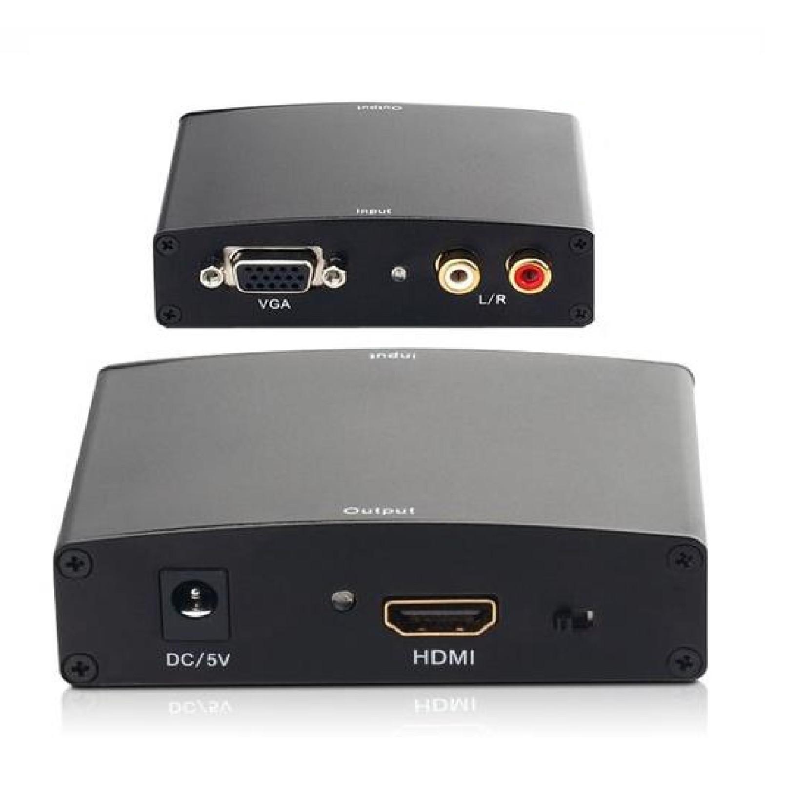 Box chuyển VGA ra HDMI ZQH-003- Hàng nhập khẩu