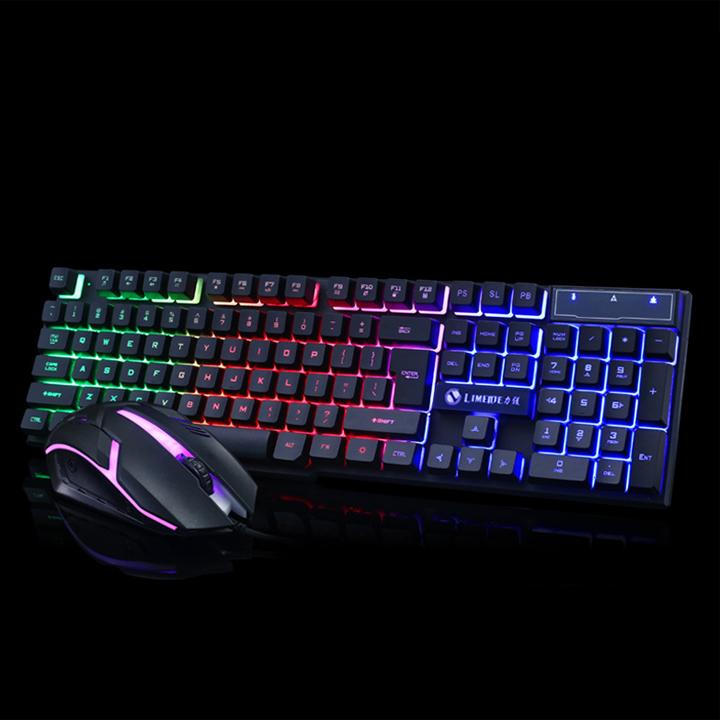 Bộ bàn phím và chuột chuyên Game Led 7 màu LIMEIDE GTX300 + Tặng lót chuột