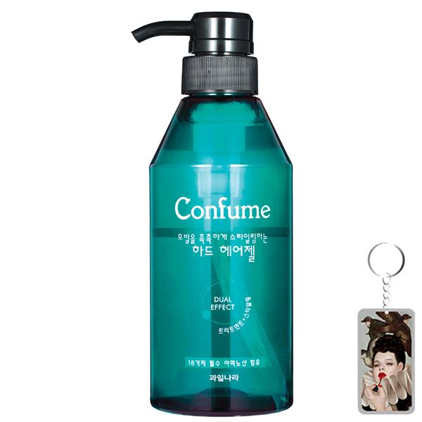 Gel đặc siêu cứng, khô nhanh giữ lọn tóc xoăn Confume Hair Gel Hàn Quốc 400ml + Móc khóa