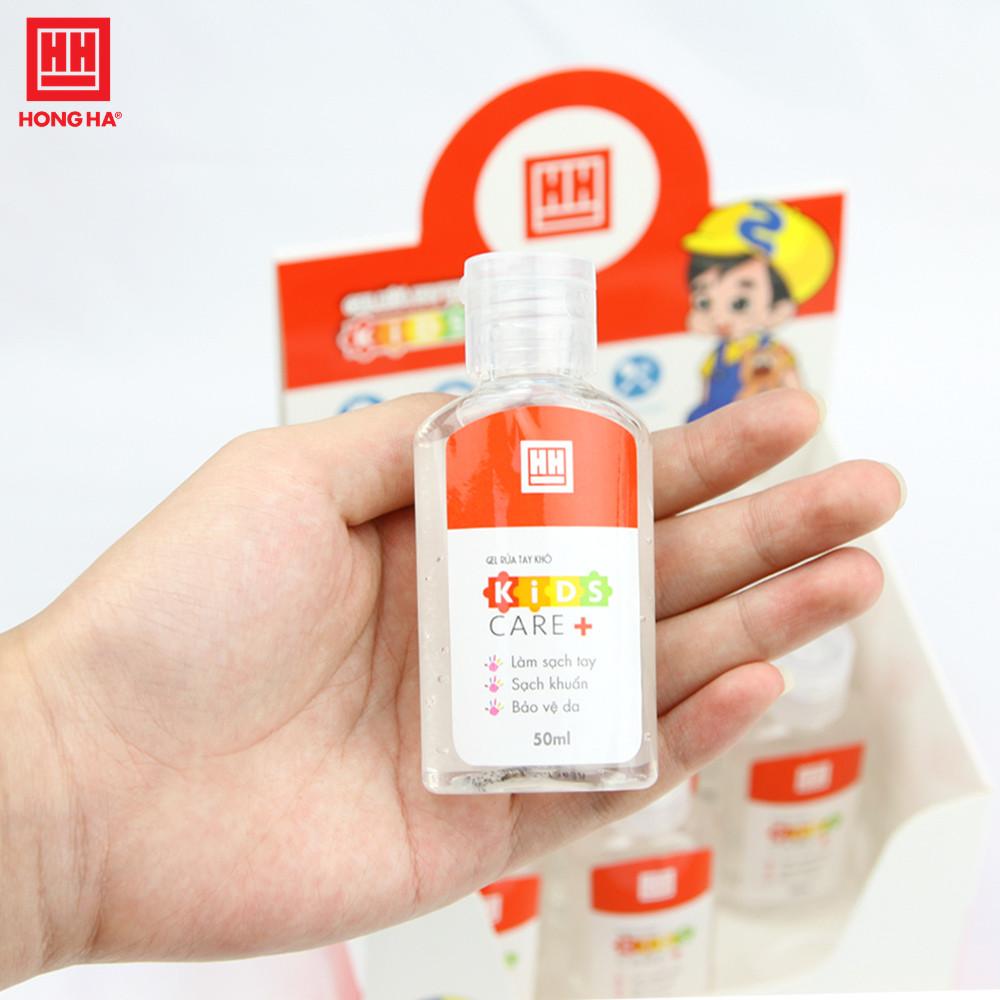 [COMBO CHỐNG DỊCH] Set 7 lọ Gel rửa tay khô Hồng Hà Kids care+ 50ml (8201)