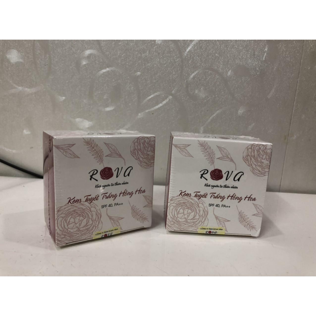 Kem nền dưỡng da và chống nắng Rova 3in1 độ SPF 40 PA ++, không bết rít, dưỡng trắng, phù hợp mọi loại da và da dầu (combo 2 hộp)