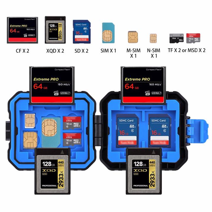 Hộp thẻ nhớ 9in1 chống nước chống bể PULUZ PU5001 - Hàng chính hãng